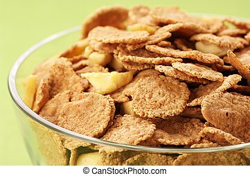 Cereal in bowl close-up