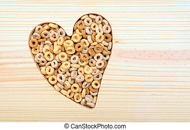 cereal in heart shape