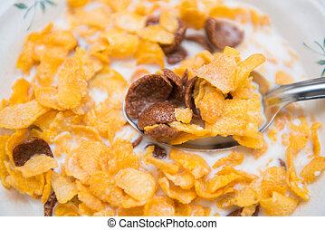 cereal in milk breakfast for health