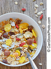 cereal, muselina
