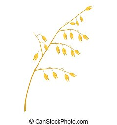 Cereal plant icon, cartoon style - Cereal plant icon. ...