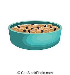 cereal plate isolated icon
