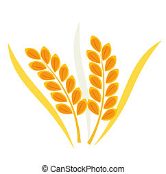 Cereal wheat ear - Wheat ears. Vector illustration