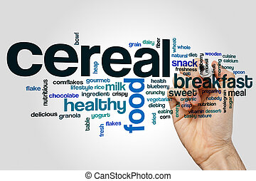 Cereal word cloud concept