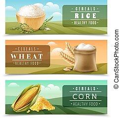 Cereals Banner Set