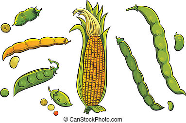 Cereals Collection - cartoon illustration of cereals...