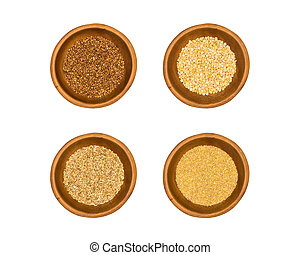 Cereals collection isolated