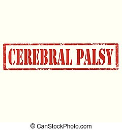 Cerebral Palsy-stamp - Grunge rubber stamp with text...