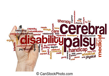 Cerebral palsy word cloud
