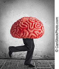 cerebro, desagüe, metáfora