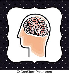 cerebro, diseño, tormenta
