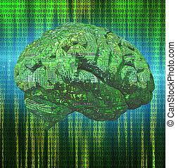 cerebro, electrónico