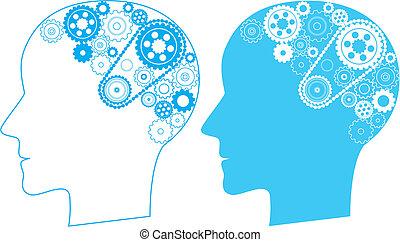 cerebro, engranaje