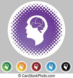 cerebro, icono