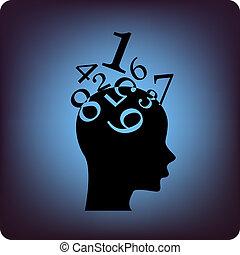 cerebro, matemáticas
