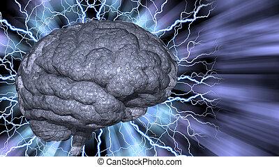 cerebro, psicodélico, plano de fondo