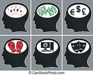 Cerebros, Cubrir