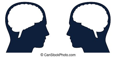 cerebros, pensamientos, comunicación