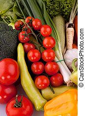 cereja, legumes, tomates