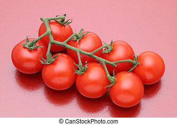 cereja, ramo, tomates