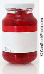 cerejas, em branco, etiqueta
