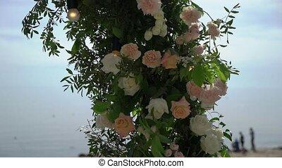 ceremonia, ślub, outdoors