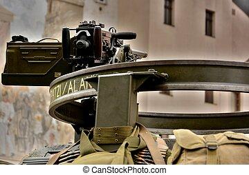 ceremonia, środek miasta, pilsen, wizerunki, wojskowy, 2013