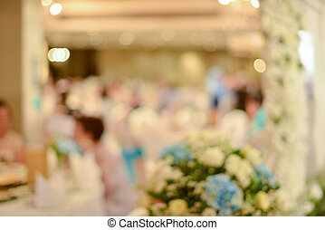 ceremonia, abstrakcyjny, ślub, zamazany, sala konwencji