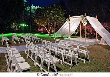 ceremonia,  (chuppah, judío, boda,  huppah), dosel, o
