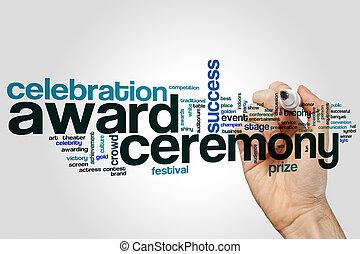 ceremonia de la concesión, palabra, nube