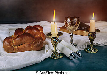 ceremonia, judío, havdala, fin, sábado