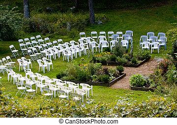 ceremonia, na wolnym powietrzu, umiejscawiać, ślub