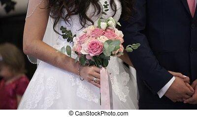 ceremonia, panna młoda, kwiaty