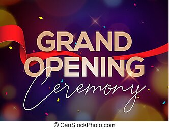 ceremonia, pojęcie, otwarcie, afisz, ozdoba, invitation., szablon, wielki, partia, wypadek