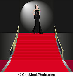 ceremonial - show women in black dress