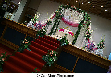 Ceremonial Dias used by Malays during wedding ceremonies in...