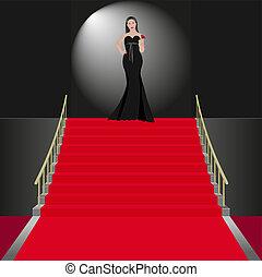 show women in black dress