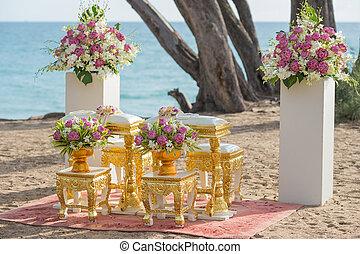 ceremonie, thai, trouwfeest