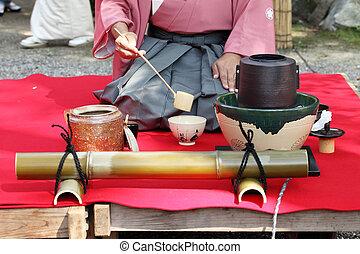 ceremonie, thee, japanner