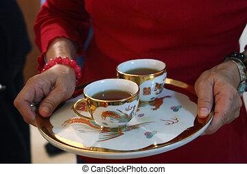 ceremonie, thee