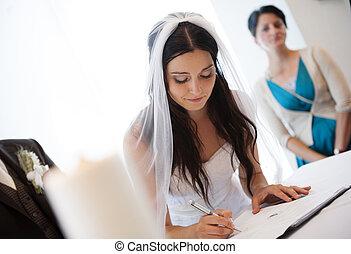 ceremonie, trouwfeest