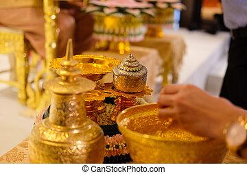 ceremonie, water, thai, relaunch, trouwfeest