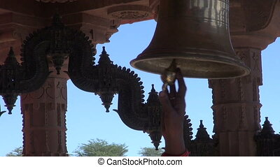 ceremony bell sound in hindu temple