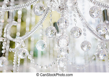 Ceremony Decoration Sparkle Crystal on Chandelier