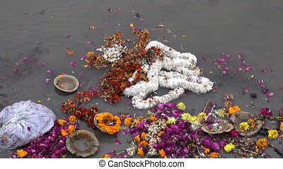 ceremony flowers garlands in Ganges