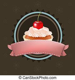 cereza, cupcake