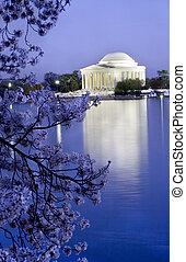cereza, monumento conmemorativo, jefferson