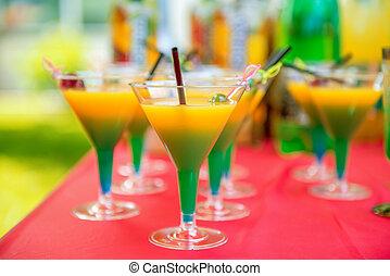 cerezas, bebida, alcohólico
