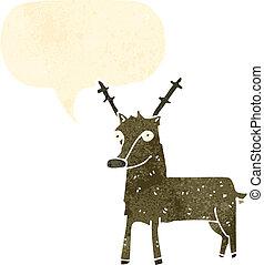cerf, dessin animé