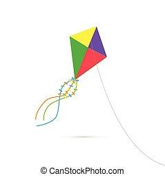 cerf volant, illustration